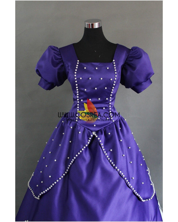 Cosrea Disney First Princess Sofia Midnight Purple Satin Cosplay Costume