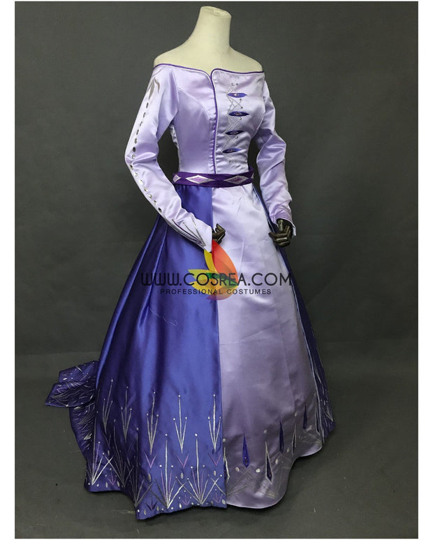 Cosrea Disney Frozen 2 Elsa Embroidered Formal Attire Cosplay Costume