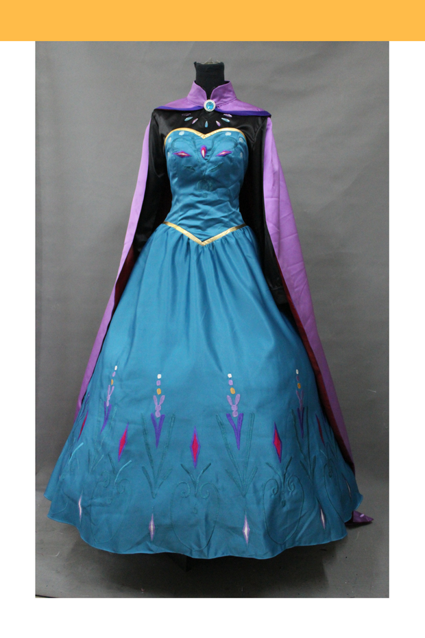 Cosrea Disney Frozen Elsa Embroidered Coronation Cosplay Costume