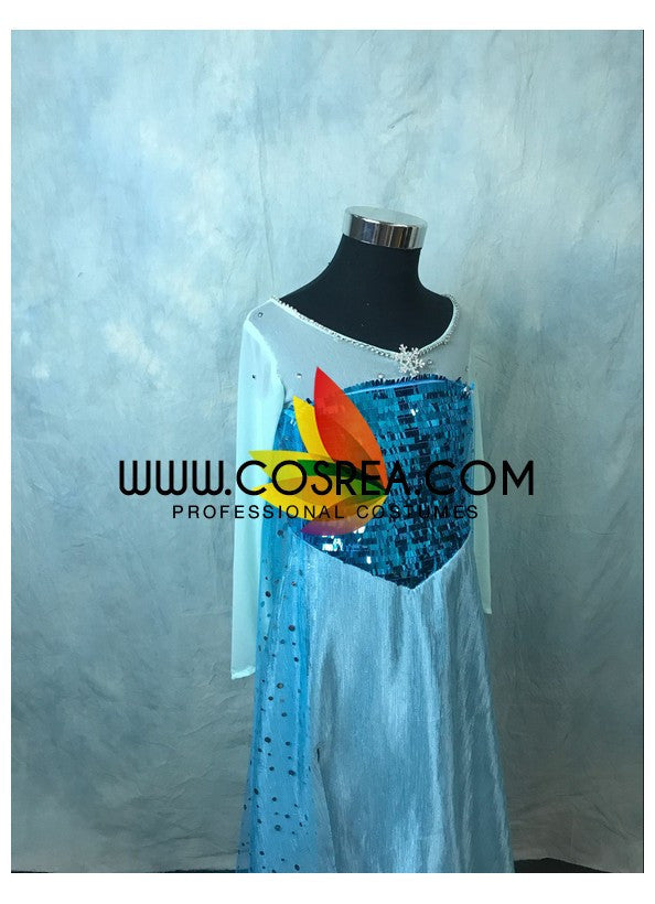 Girls Size Frozen Elsa Ice Queen Cosplay Costume - Cosrea Cosplay