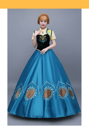 Frozen Fever Anna Embroidered Cosplay Costume - Cosrea Cosplay