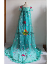 Cosrea Disney Frozen Fever Elsa Embroidered Cosplay Costume