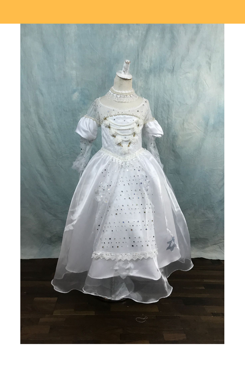 Girls Alice In The Wonderland White Queen Cosplay Costume - Cosrea Cosplay