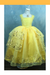 Cosrea Disney Girls Beauty And Beast Belle Live Action 2017 Classic Tulle Cosplay Costume