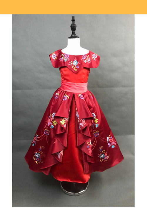 Cosrea Disney Girls Elena Of Avalor Embroidered Regal Cosplay Costume