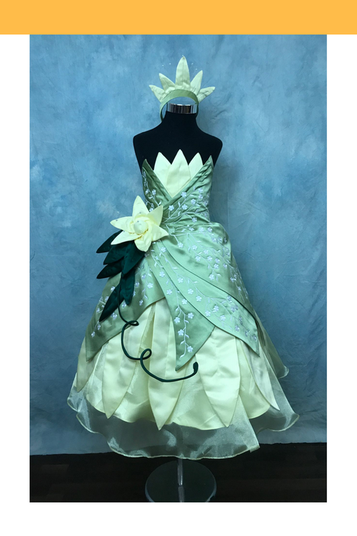 Cosrea Disney Girls Princess And The Frog Tiana Cosplay Costume