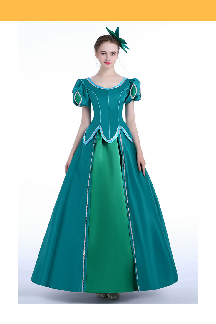 Little Mermaid Ariel Emerald Green Cosplay Costume