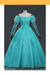 Little Mermaid Ariel Turquoise Tulle With Pearl Cosplay Costume - Cosrea Cosplay