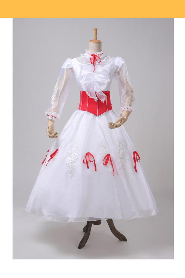 Cosrea Disney Mary Poppins Classic Tulle Cosplay Costume