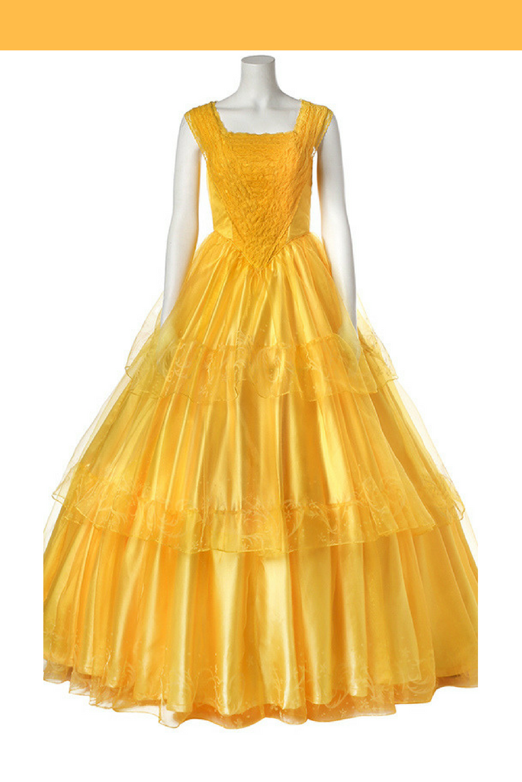 Beauty And Beast 2017 Princess Belle Multilayer Tulle Cosplay Costume