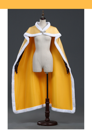 Beauty And Beast Classic Belle Rose Gold Satin Cape - Cosrea Cosplay
