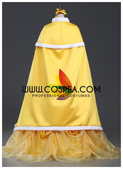 Beauty And Beast Classic Belle Satin Round Shoulder Cape - Cosrea Cosplay