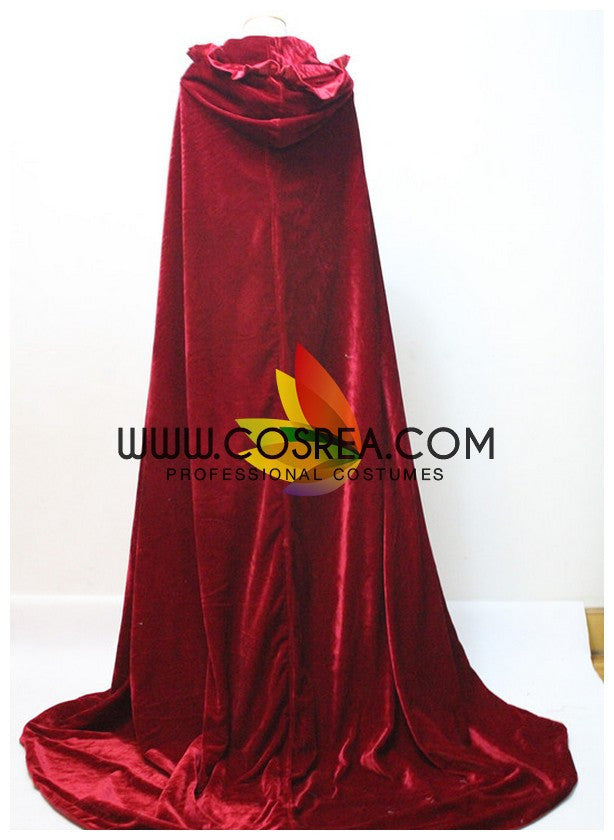 Cosrea Disney No Option Disney Dark Red Velvet Cape