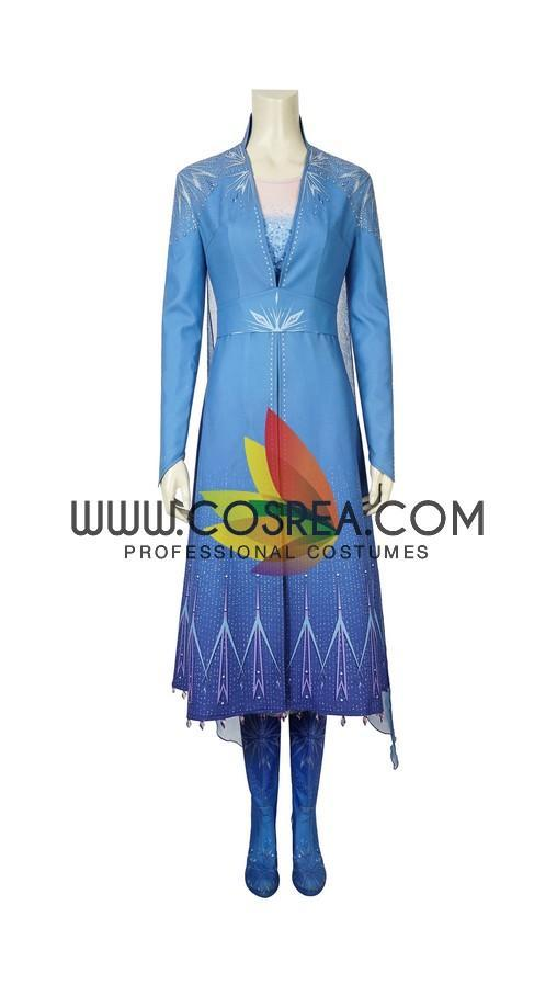 Frozen 2 Elsa Preset Size Only Cosplay Costume