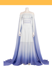 Cosrea Disney No Option Frozen 2 Elsa Ending White Dress With Gradient Purple Drape Cosplay Costume