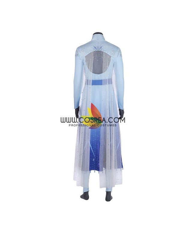 Cosrea Disney No Option Frozen 2 Elsa Gradient With Custom Sizing Option Cosplay Costume