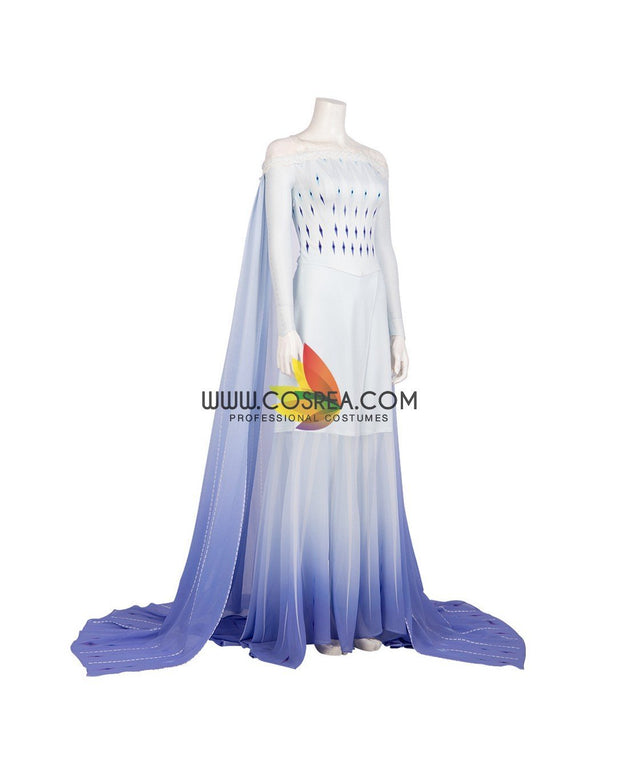 Cosrea Disney No Option Frozen 2 Elsa Show Yourself Gradient Cosplay Costume