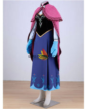 Cosrea Disney No Option Frozen Anna Winter Complete Cosplay Costume