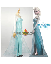 Cosrea Disney No Option Frozen Elsa Light Cyan Cosplay Costume
