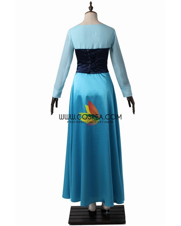 Cosrea Disney No Option Little Mermaid Aurora Kiss The Girl Satin Chiffon Cosplay Costume