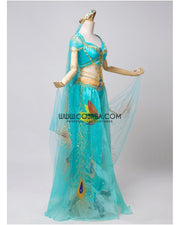 Cosrea Disney No Option Princess Jasmine Embroidered Live Action Movie  Cosplay Costume
