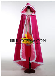 Sleeping Beauty Aurora Classic Pink Velvet Cape - Cosrea Cosplay
