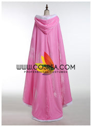Sleeping Beauty Aurora Light Pink Velvet Cape - Cosrea Cosplay