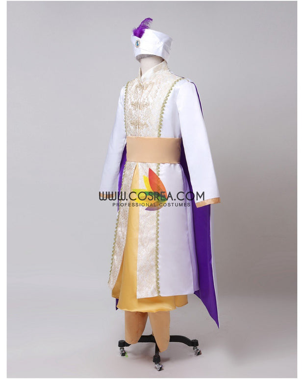 Cosrea Disney Prince Ali Brocade Satin Cosplay Costume