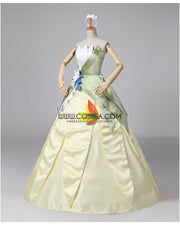 Cosrea Disney Princess And The Frog Tiana Classic Satin Cosplay Costume