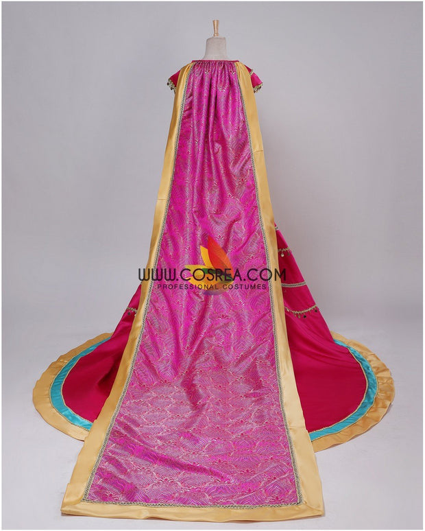 Cosrea Disney Princess Jasmine Formal Magenta Live Action Movie Cosplay Costume