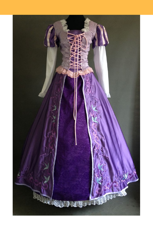 Cosrea Disney Rapunzel Classic Embroidered Cosplay Costume