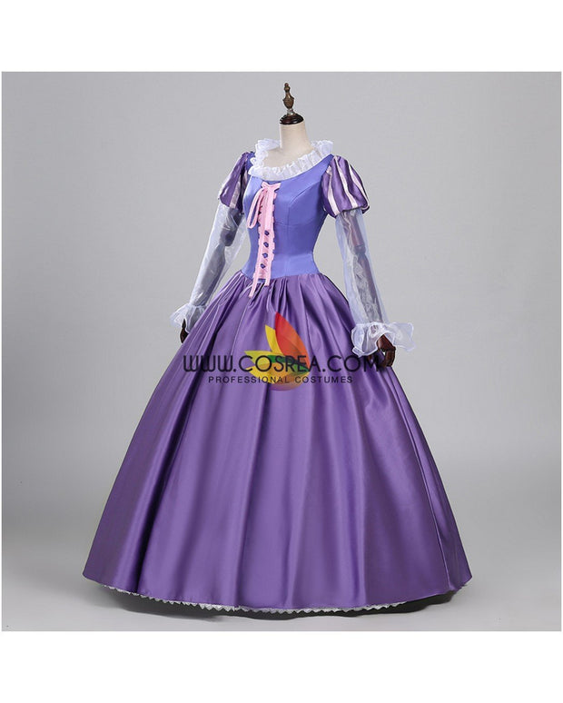 Cosrea Disney Rapunzel Orchid Purple Satin Cosplay Costume