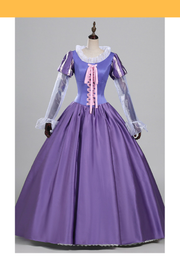 Rapunzel Orchid Purple Satin Cosplay Costume - Cosrea Cosplay