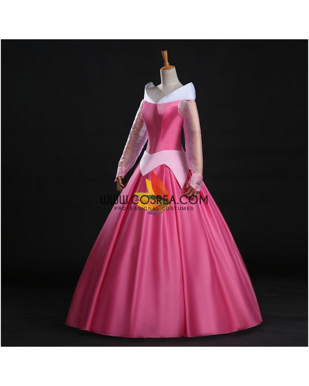 Cosrea Disney Sleeping Beauty Aurora Classic Pink Cosplay Costume