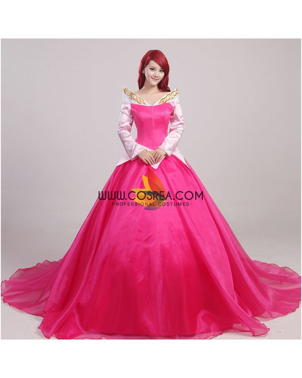 Cosrea Disney Sleeping Beauty Aurora Multilayer With Train Cosplay Costume