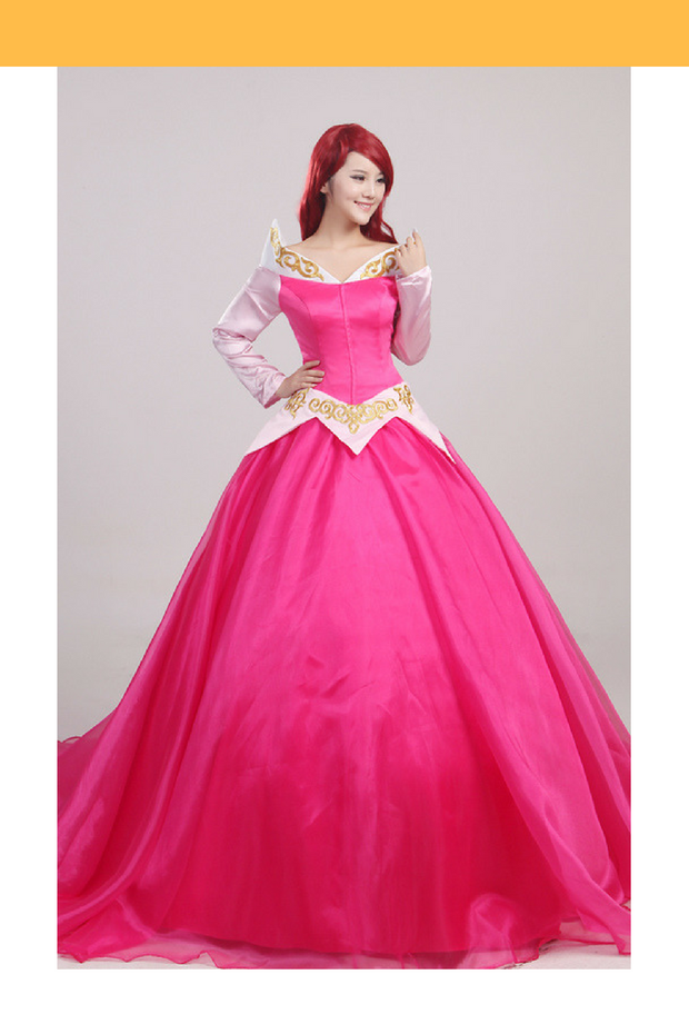 Sleeping Beauty Aurora Multilayer With Train Cosplay Costume - Cosrea Cosplay