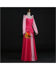 Cosrea Disney Sleeping Beauty Aurora Park Inspired Brocade Satin Cosplay Costume