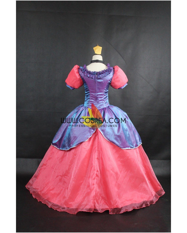 Cosrea Disney Step Sister Anastasia Gradient Satin Cosplay Costume