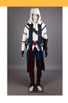 Cosrea Games Assassin's Creed III Connor White Cosplay Costume