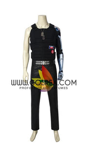 Cosrea Games Cyberpunk 2077 Keanu Reeves PU Leather Cosplay Costume