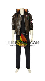 Cyberpunk 2077 Male PU Leather Cosplay Costume