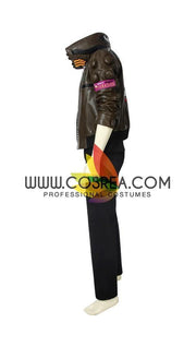 Cosrea Games Cyberpunk 2077 Male PU Leather Cosplay Costume