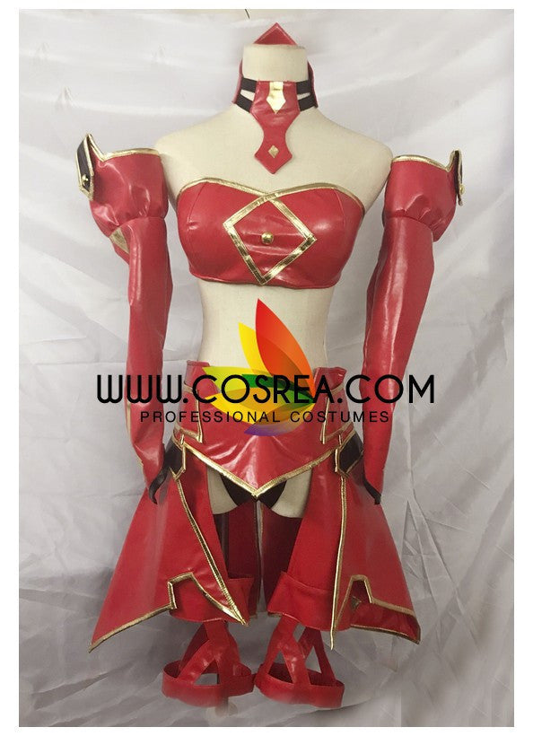 Fate Grand Order Mordred PU Leather Version Cosplay Costume - Cosrea Cosplay