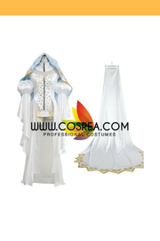 Fate Grand Order Saber Satin White Cosplay Costume - Cosrea Cosplay