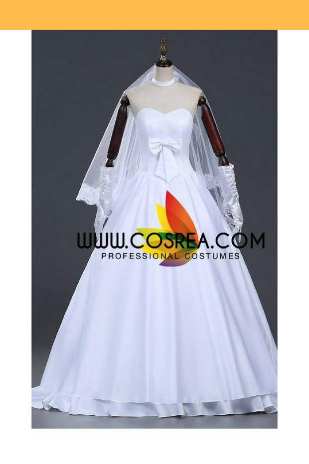 Fate Night Saber Anniversary Wedding Cosplay Costume - Cosrea Cosplay