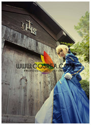 Fate Night Saber Classic Blue Cosplay Costume - Cosrea Cosplay