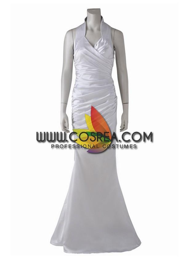 Final Fantasy 15 Lunafreya Nox Fleuret Satin Version Cosplay Costume - Cosrea Cosplay