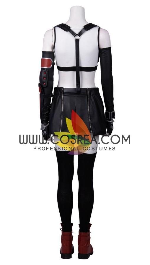 Cosrea Games Final Fantasy 7 Remake Tifa PU Leather Cosplay Costume