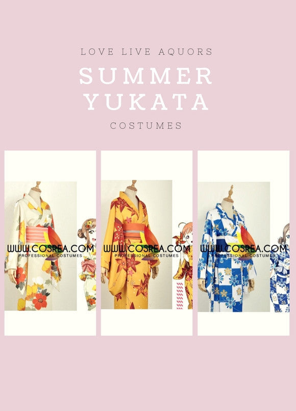 Cosrea Games Love Live Aquors Summer Yukata Cosplay Costume