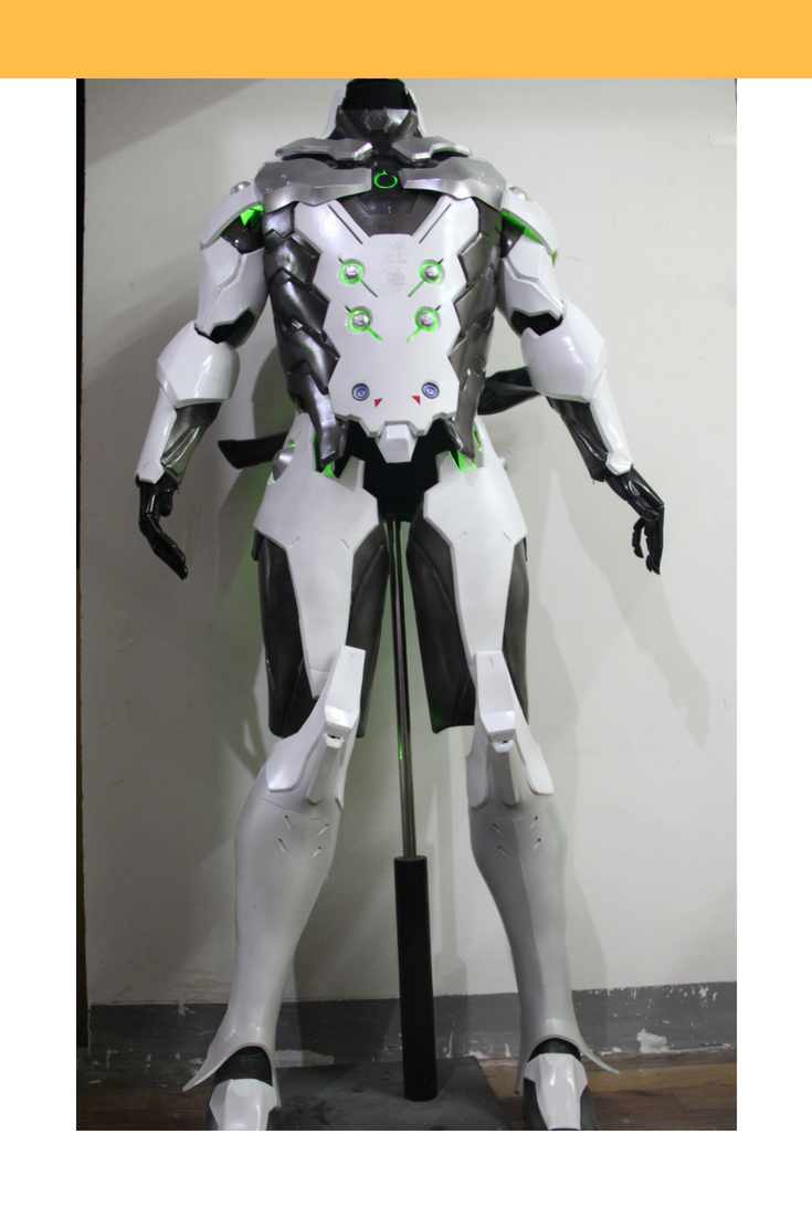 Overwatch Genji Gunmetal Grey With LED Cosplay Costume